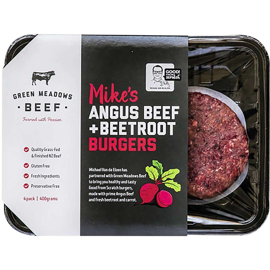 Countdown Burger Patties Angus Beef And Beetroot 400g - buy online at countdown.co.nz
