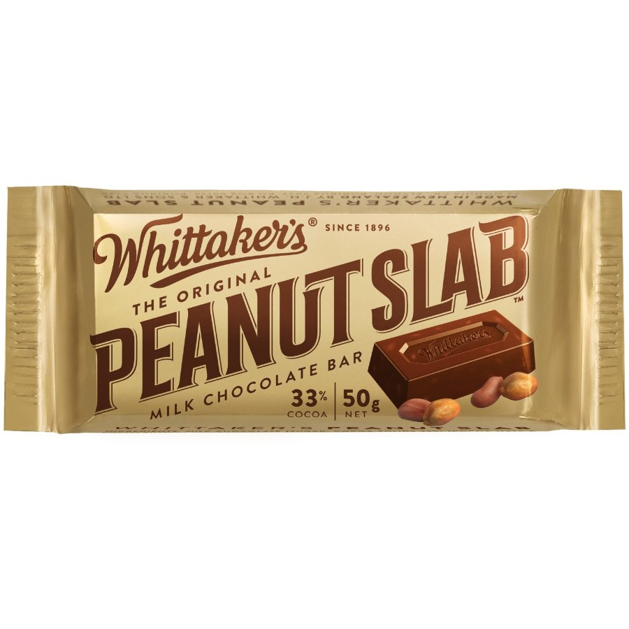 Whittakers Chocolate Bar Peanut Slab each 50g - buy online at countdown.co.nz