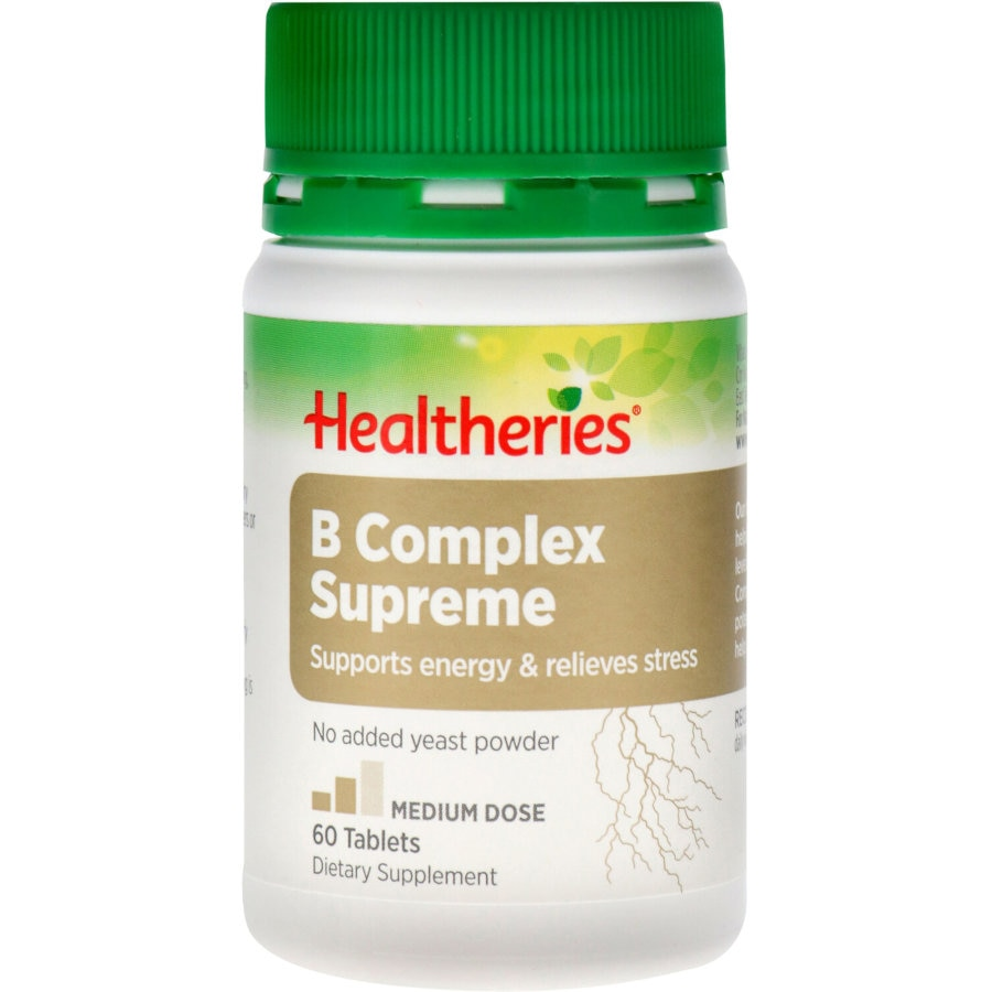 Healtheries Vitamin B Complex Supreme tablets 60pk - buy online at countdown.co.nz